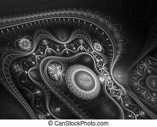machine., steampunk, voyage, surréaliste, temps, technologie