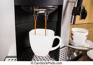 machine, tasse à café