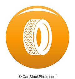 Machine tire icon orange