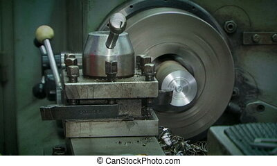 Machine Tool Processing Metal At Workshop