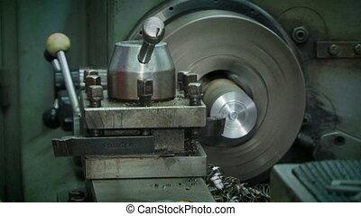 Machine Tool Processing Metal At Workshop