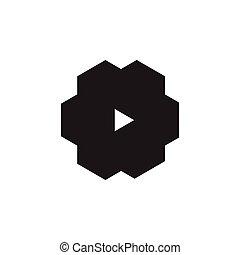 machine, triangle, symbole, logo, dent, vecteur