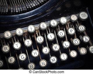 machine., typewriting, vendange, façonné