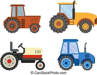 machine, vecteur, technic, moissonneuse