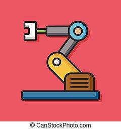 machine, vecteur, technologie, icône