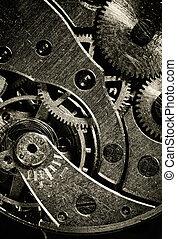 machine, vendange, intérieur, temps, vue