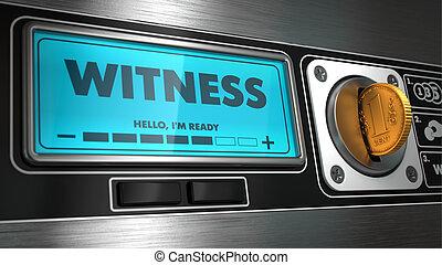 machine., vendita, mostra, testimone