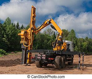 Machine vibration piling - Machine vibration during piling...