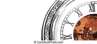 machine, vieux, horloge