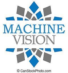 Machine Vision Blue Grey Elements Square