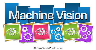 Machine Vision Colorful Squares Gears Eye