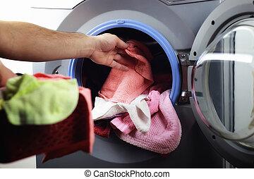 machine Washer hand put