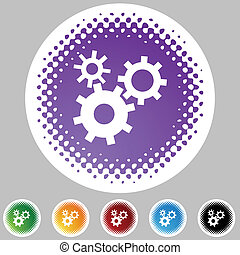 Machine Wheel Icon