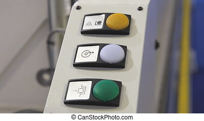 Machine with blinking indicator lamp