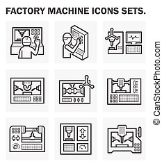 Machine_Icon - Factory machine icons sets.