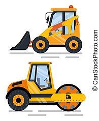 machinerie, construction, construisant matériel