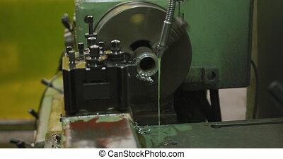 machinerie, tuyau, morceau, tourner, usine, atelier, ...