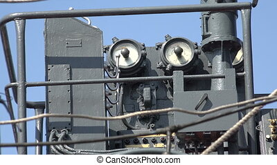 Machinery and equipment of a warship. - Machinery and...