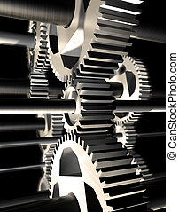 Machinery - 3d image of still life of machinery
