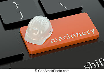Machinery concept on keyboard button