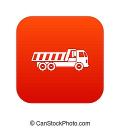 Machinery icon digital red