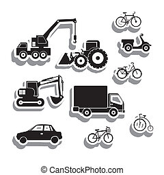 machinery icons over white background vector illustration