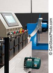 Machinery in a metal workshop