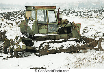 Machinery in the snow