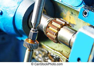 machining, metalworking:, gearwheel