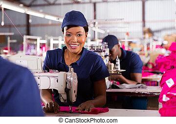machinist, jonge, naaiwerk