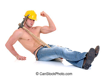 macho, 建築作業員