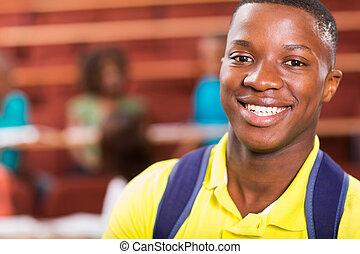 macho, africano, estudiante de la universidad