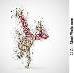 macho, bailando