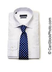 macho branco, agradável, camisa, isolado
