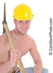 Macho construction worker