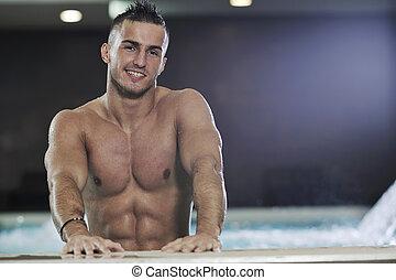 macho man - young healthy good looking macho man model...