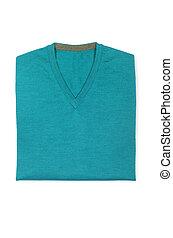 macho, suéter, isolado, ligado, a, branca