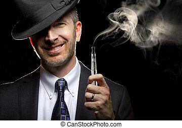 macho, vaping, con, e-cigarette