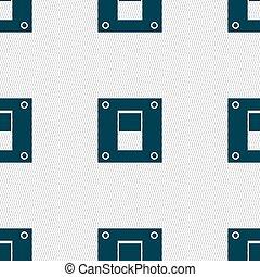 macht, abstract, shapes., seamless, switch, vector, achtergrond, geometrisch, teken., pictogram