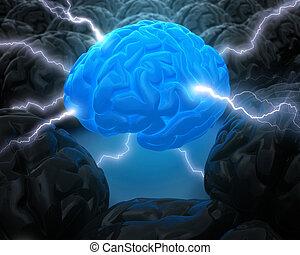 macht, hersenen