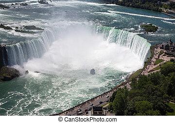 macht, kanadier, fällt, erstaunlich, niagara, seite