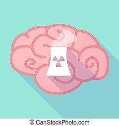 macht, nucleair, lang, hersenen, station, schaduw