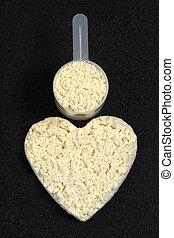 macht, poeder, hart, proteïne