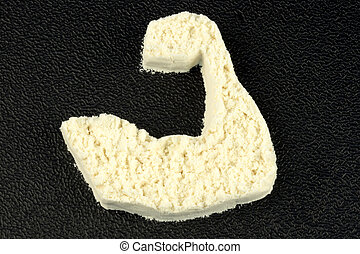 macht, poeder, proteïne, arm