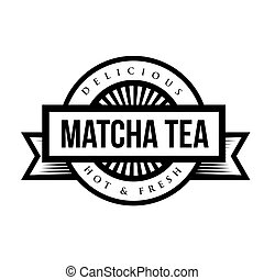 machta, ouderwetse , meldingsbord, thee, logo, of