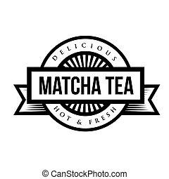 machta, vendimia, señal, té, logotipo, o