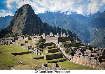 Machu Picchu, a Peruvian Historical Sanctuary in 1981 and a UNES