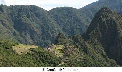 Machu Picchu city time lapse - Machu Picchu city , Peru