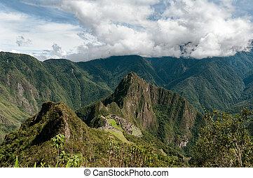 Machu Picchu, Cuzco, Peru - Machu Picchu an over view above...