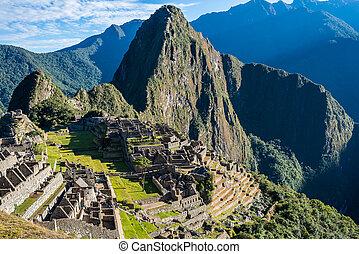 machu picchu, gruzy, peruwiański, andy, cuzco, peru